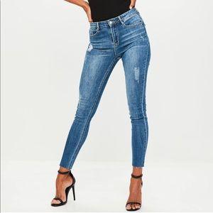 Dark blue Sinner high waisted skinny jeans